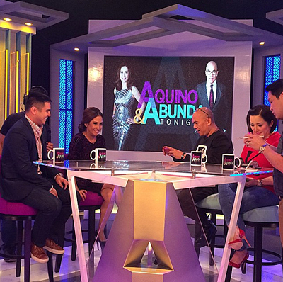 PHOTOS: Ang pinakaoriginal na love team #MarJo on Aquino & Abunda Tonight