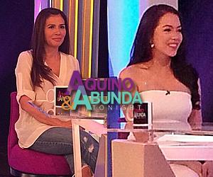 Julia Montes and Zsa Zsa Padilla on Aquino  Abunda Tonight