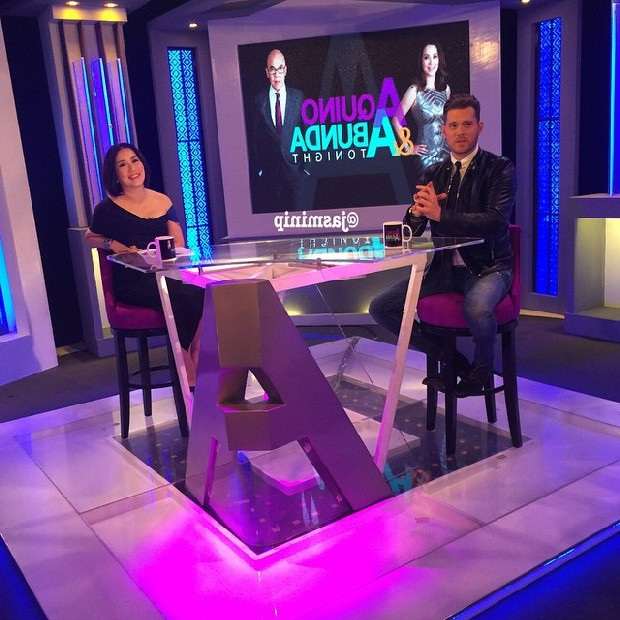 PHOTOS: Michael Bublé on Aquino & Abunda Tonight