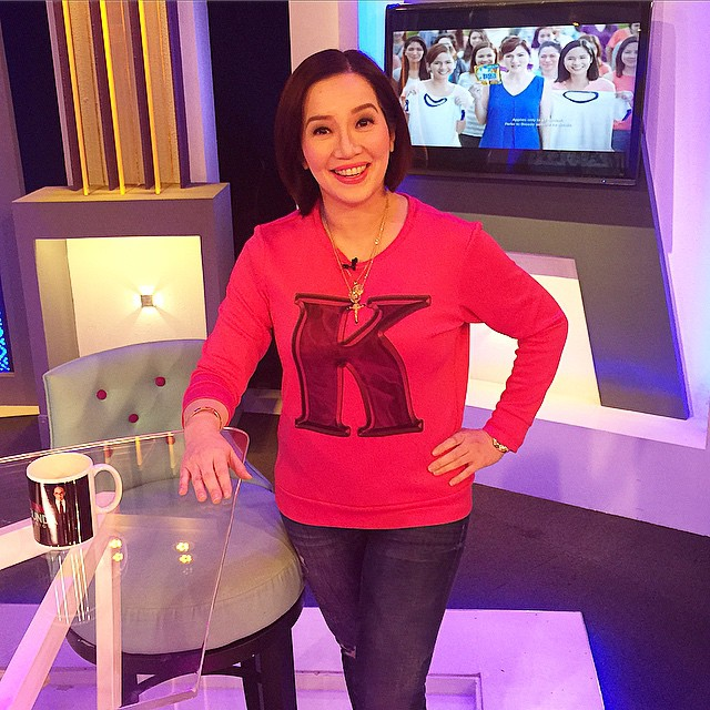 LOOK: Happy birthday to the Queen of All Media Kris Aquino! Look at Kris' fab OOTN on Aquino & Abunda Tonight