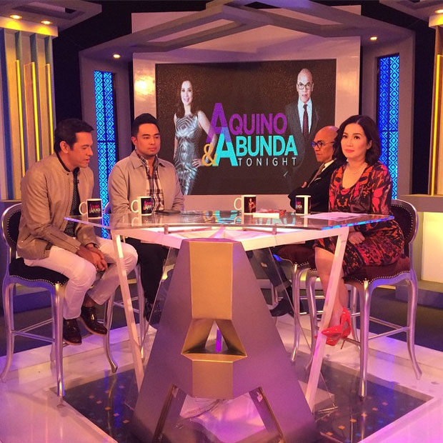 PHOTOS: Gary V and Jed Madela on Aquino & Abunda Tonight