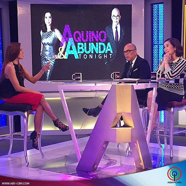 PHOTOS: Nikki Gil enjoys chatting with Boy and Kris on Aquino & Abunda Tonight