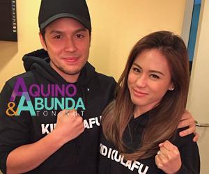On the set of Aquino & Abunda Tonight: Paul Soriano with his supportive fiancee Toni Gonzaga
