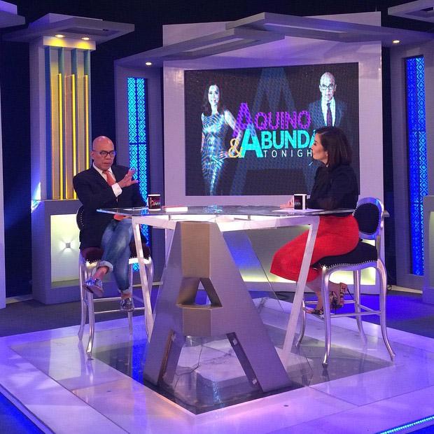 PHOTOS: Bret Jackson on Aquino and Abunda Tonight