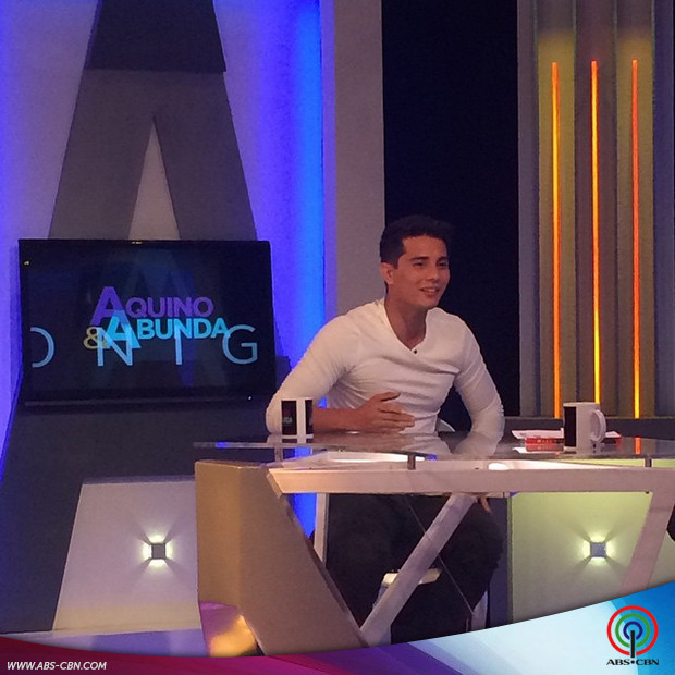 PHOTOS: Ejay Falcon on Aquino & Abunda Tonight