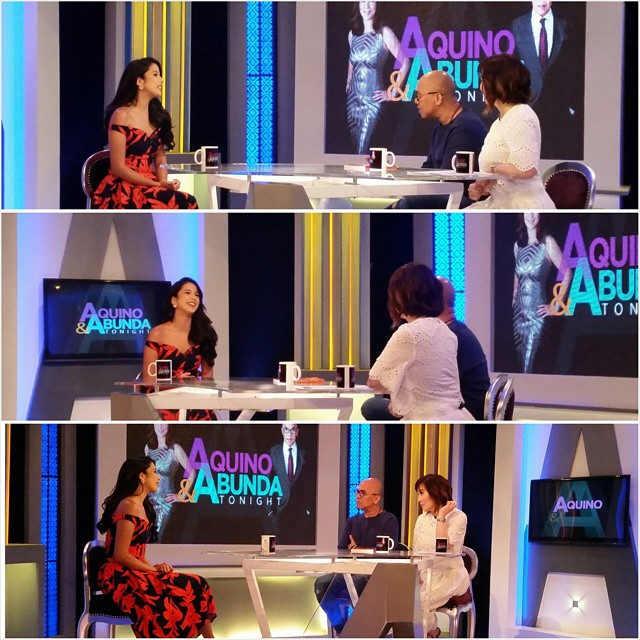 Maxene and Jane's fab OOTD on Aquino & Abunda Tonight