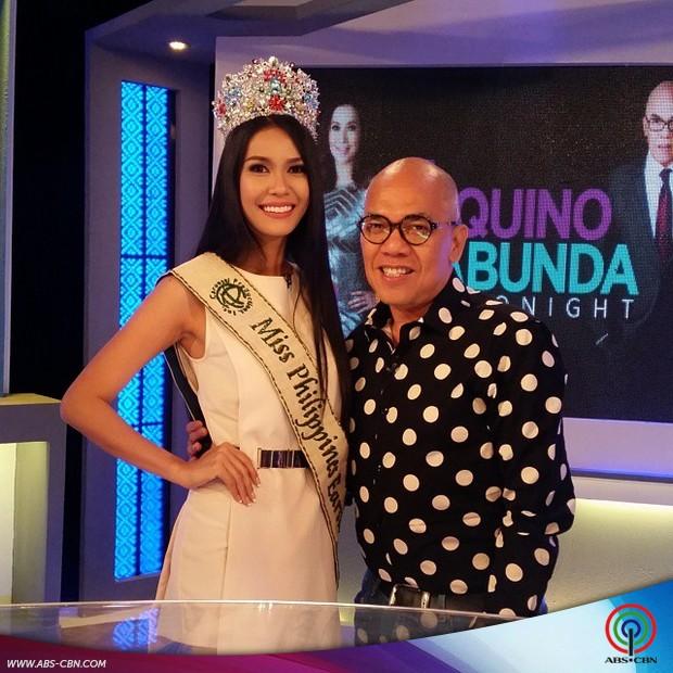 PHOTOS: K Brosas and Miss Philippines Earth 2015 Angelia Ong on Aquino & Abunda Tonight
