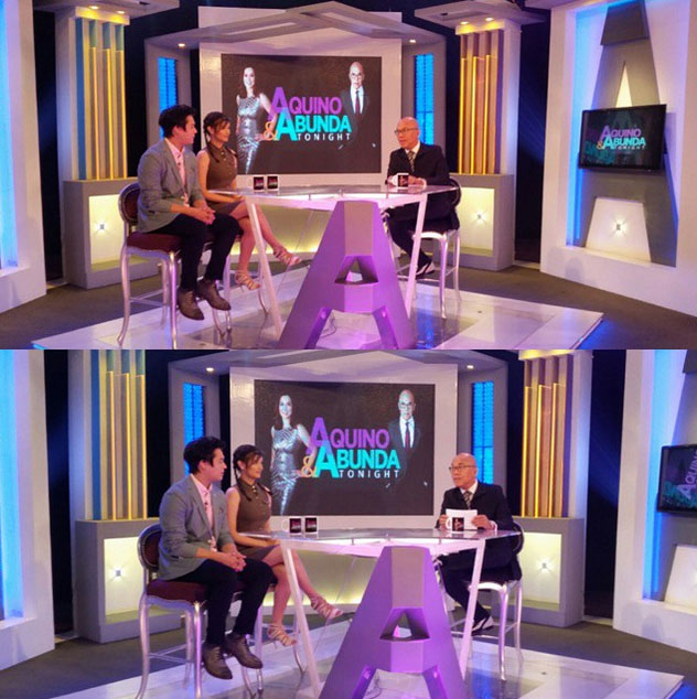 PHOTOS: Cute couple Liza and Enrique on Aquino & Abunda Tonight