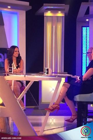 Aquino & Abunda Tonight with Bb Pilipinas Intercontinental 2014 Kris Janson