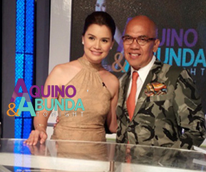 Aquino & Abunda Tonight with Nadine Samonte