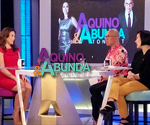 Aquino  Abunda Tonight with Ciara Sotto