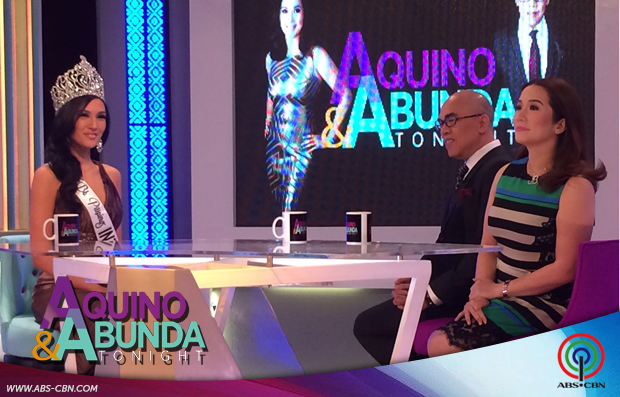 Aquino & Abunda Tonight with Bb Pilipinas International 2014 Bianca Guidotti