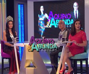 Aquino & Abunda Tonight with Bb Pilipinas Supranational 2014 Yvethe Gonzales