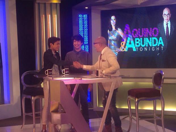 LOOK: Teen idols Darren, JK, Grae with the King of Talk Boy Abunda on Aquino & Abunda Tonight