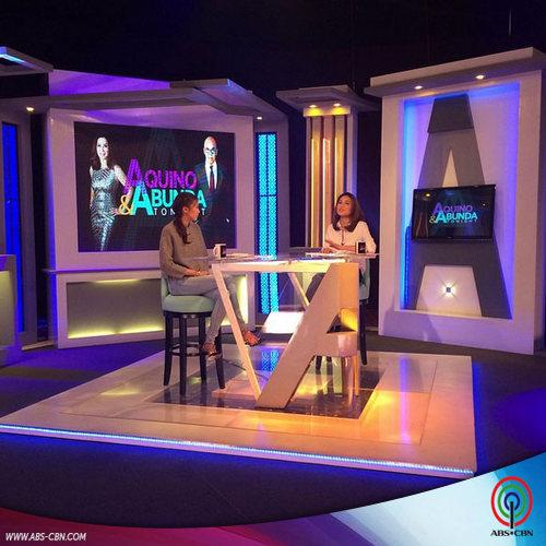 Toni and Alex for Aquino & Abunda Tonight with Gabriel Moreno