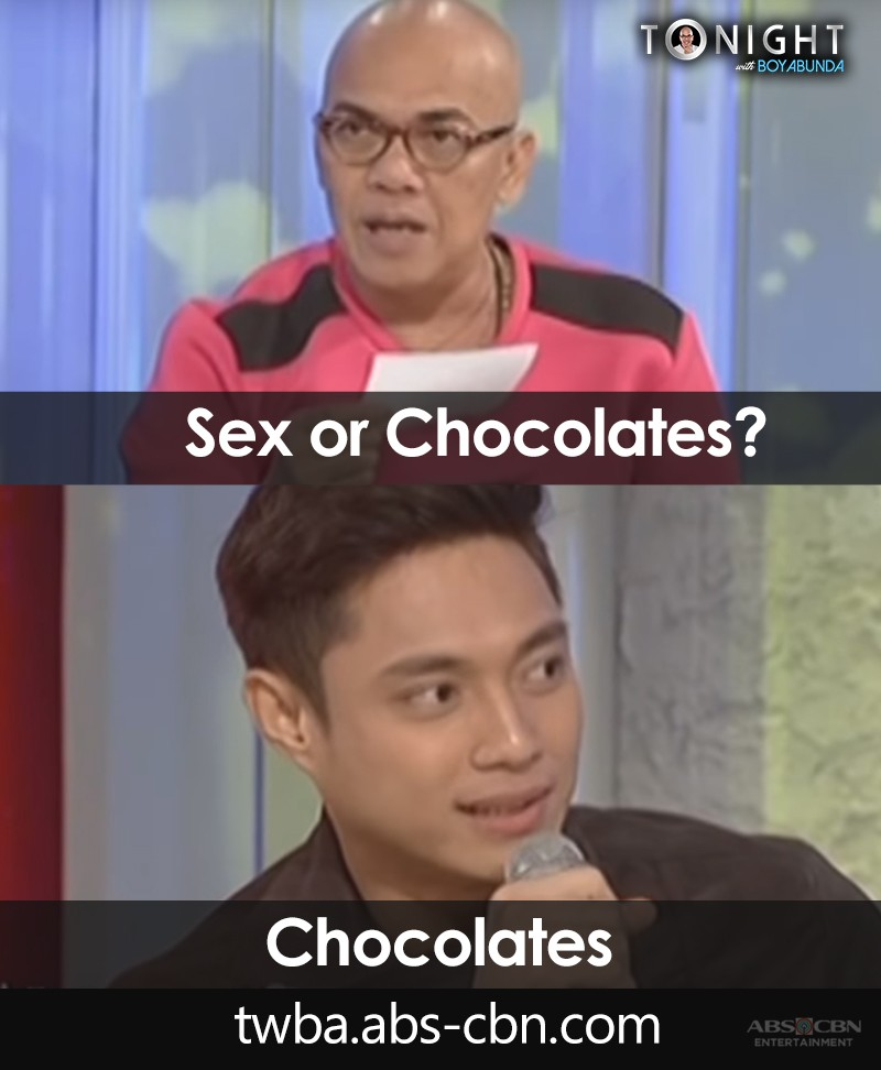 Sexy time or Chocolates? Here are some TWBA guests who answered the ultimate Fast Talk question!